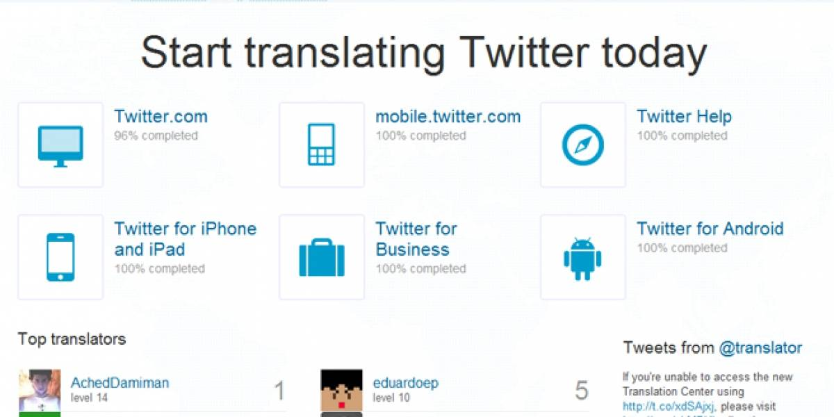 Twitter lanza un centro de traducción global