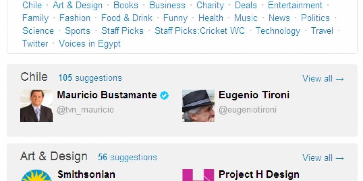 Twitter ahora busca usuarios según intereses