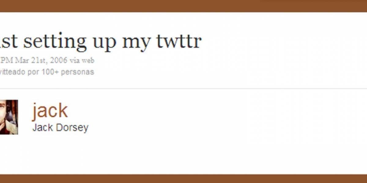 """El primer """"tweet"""" se envió hace exactamente 5 años"""
