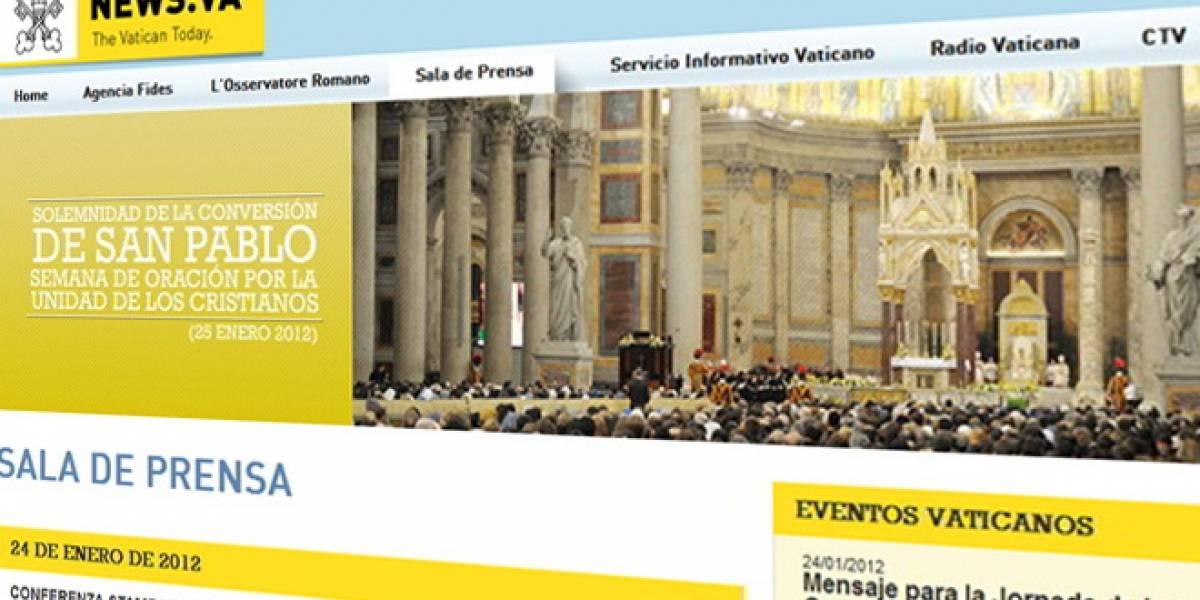 El Vaticano dice que su portal recibe entre 8.000 y 10.000 visitas al día