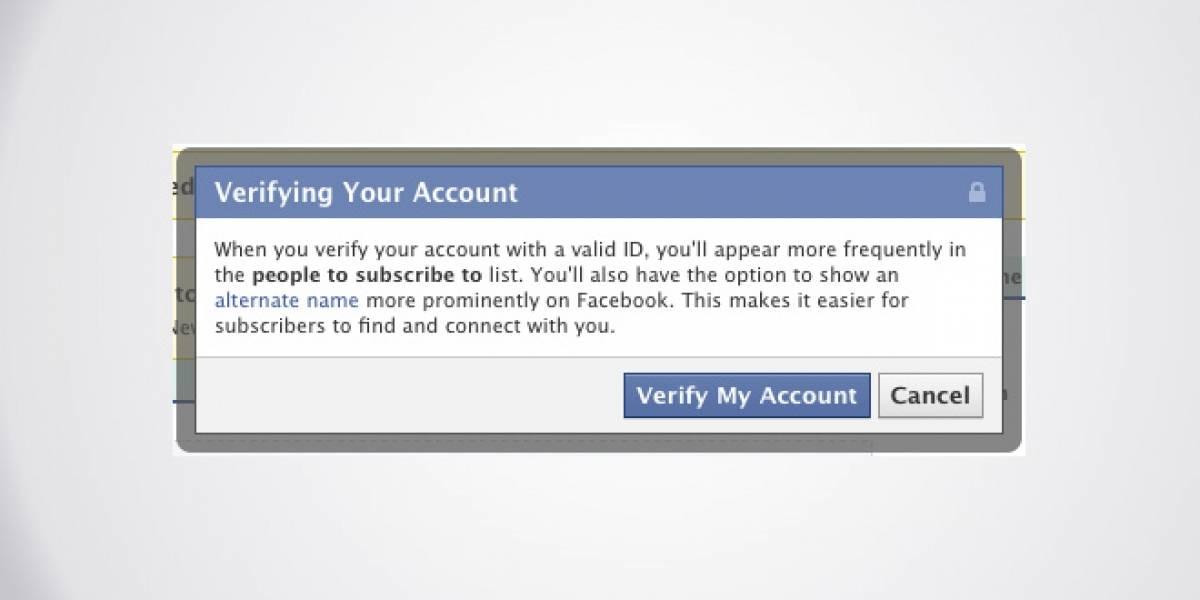 Facebook lanza cuentas verificadas y permitirá usar pseudónimos
