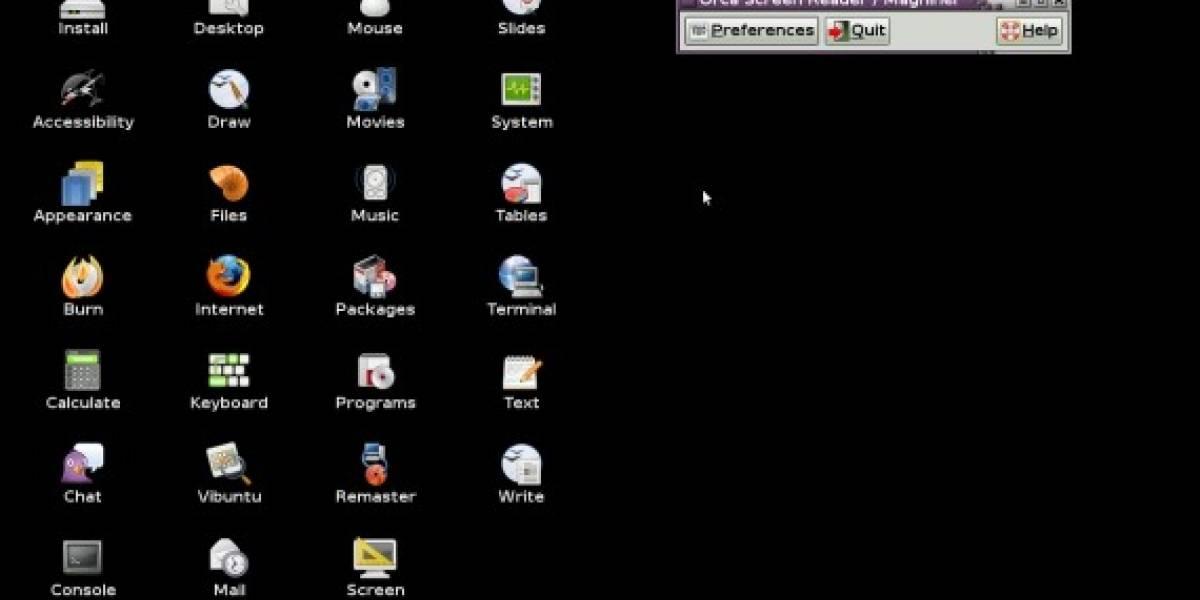 Vibuntu: Linux para personas con problemas visuales
