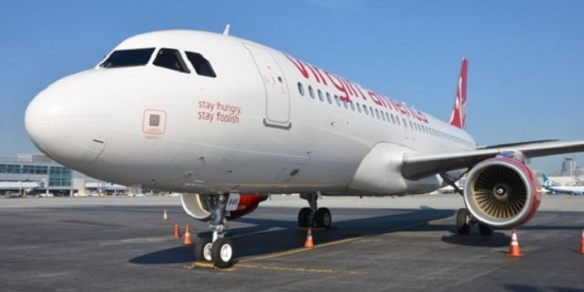 Virgin America bautizó uno de sus aviones en honor a Steve Jobs