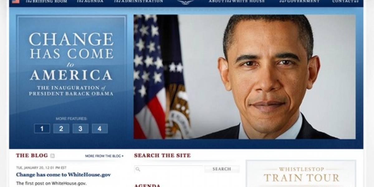Los EEUU cambia de Presidente y la Casa Blanca de sitio Web