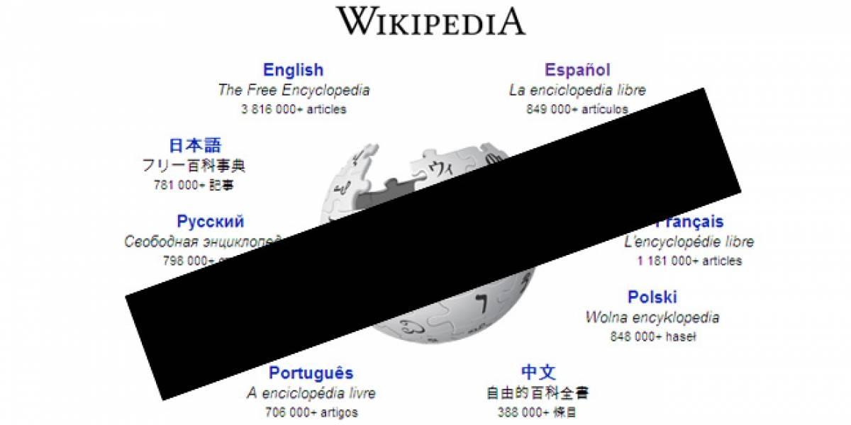 """Wikipedia evalúa """"borrarse"""" en protesta por la ley SOPA"""