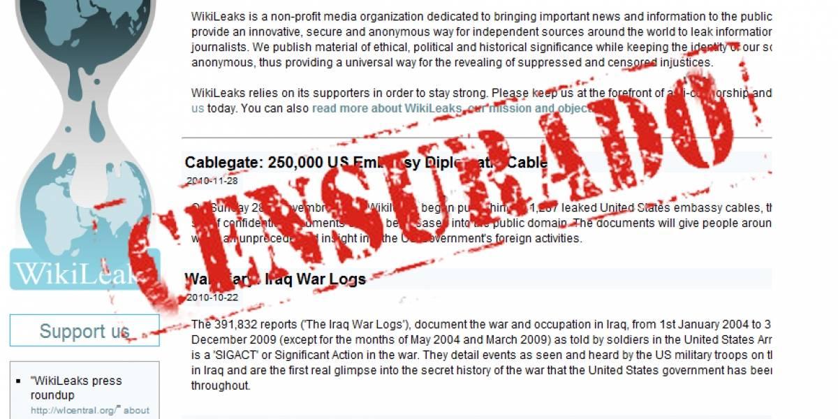 Amazon cede a la presión política y deja de alojar a Wikileaks
