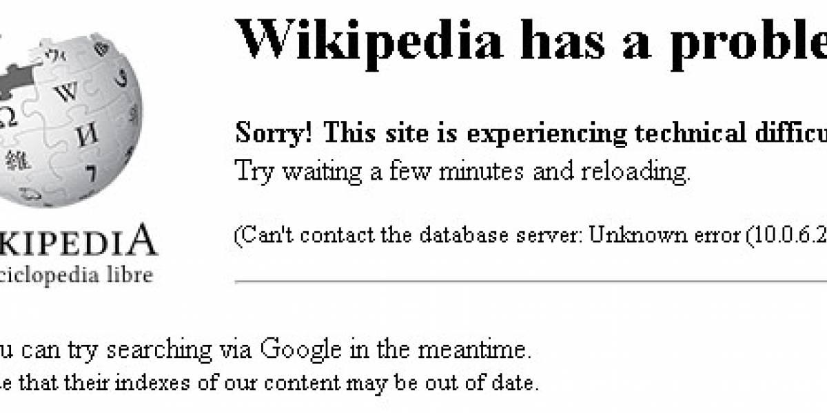 Wikipedia en español con dificultades técnicas (Actualizado)