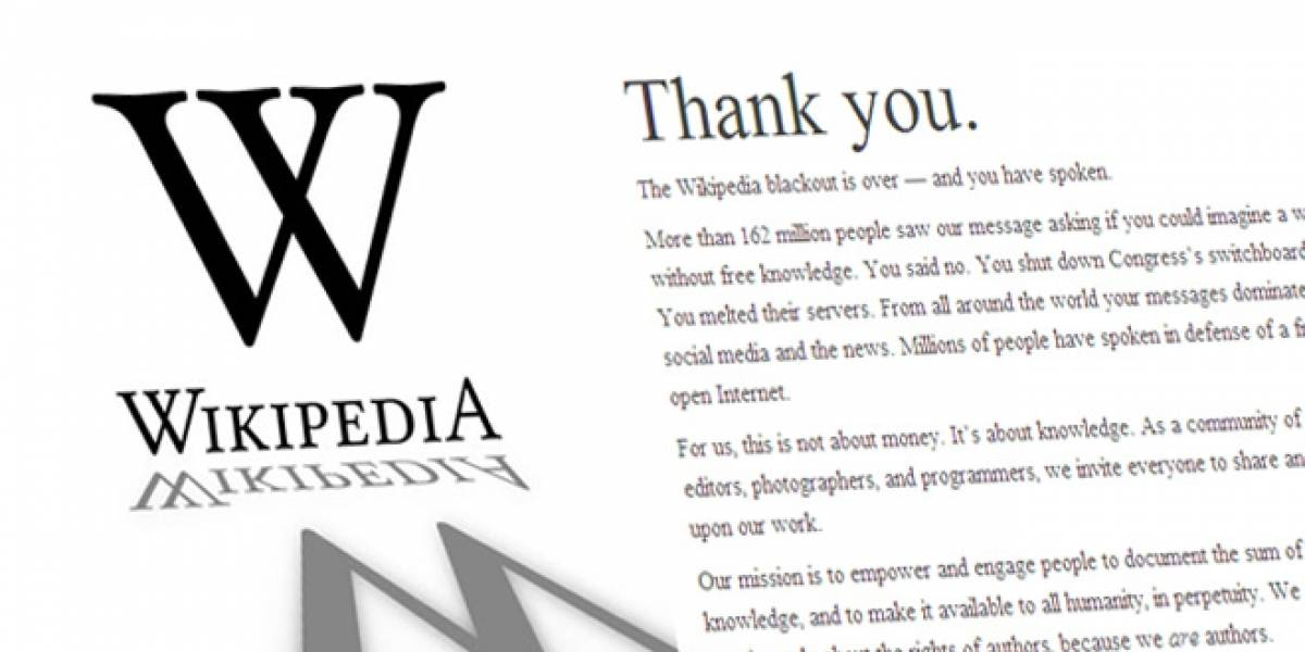 """Después de la protesta, Wikipedia dice que """"esto no ha terminado"""""""