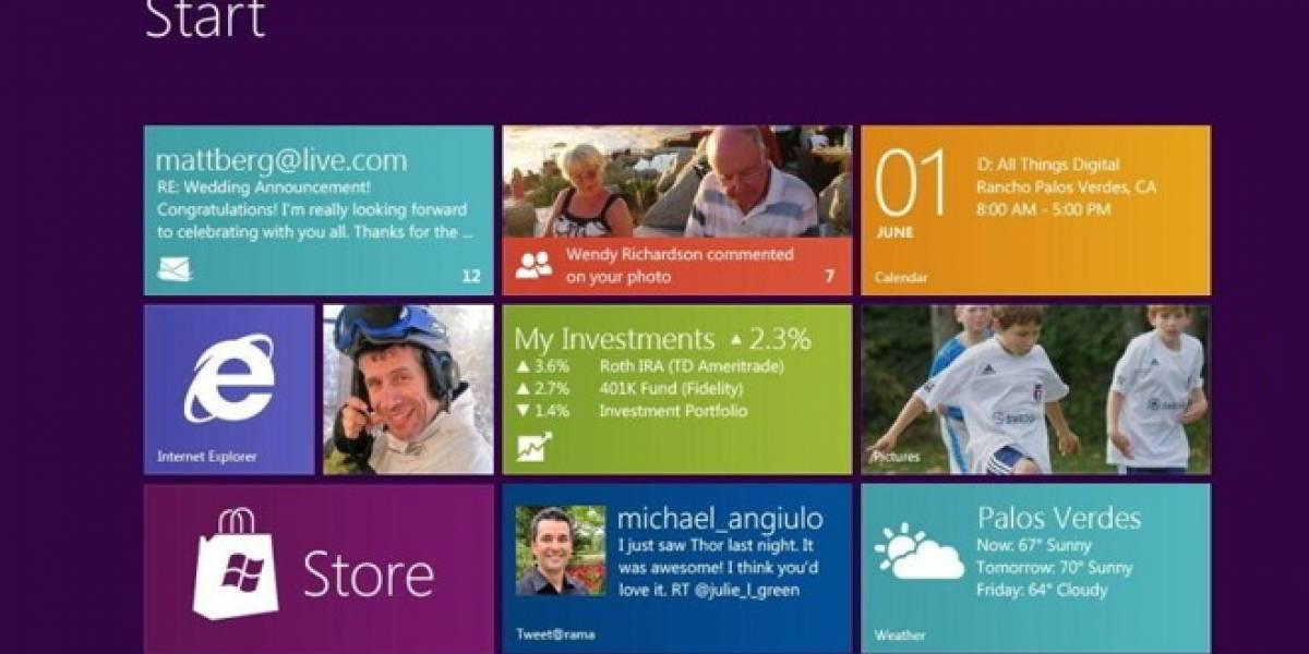 La versión Consumer Preview de Windows 8 alcanzó un millón de descargas
