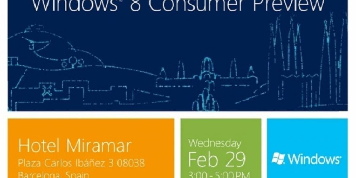 Windows 8 Consumer Preview será lanzado el 29 de febrero en Barcelona