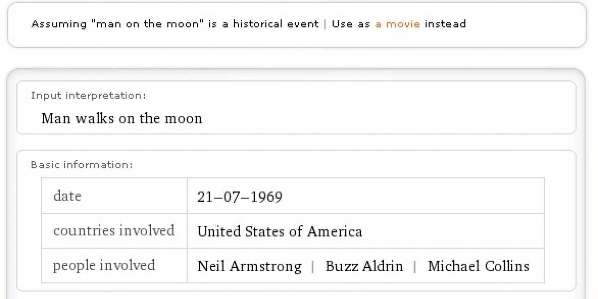 Ya se encuentra disponible Wolfram|Alpha