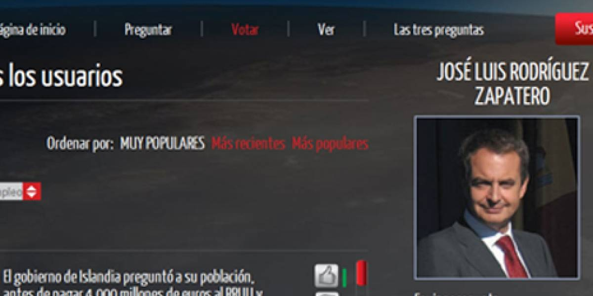 España: Pregúntale lo que quieras a Zapatero vía Youtube