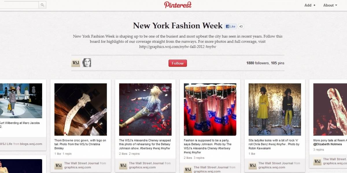El Wall Street Journal y USA Today utilizan la red social Pinterest para su cobertura de eventos