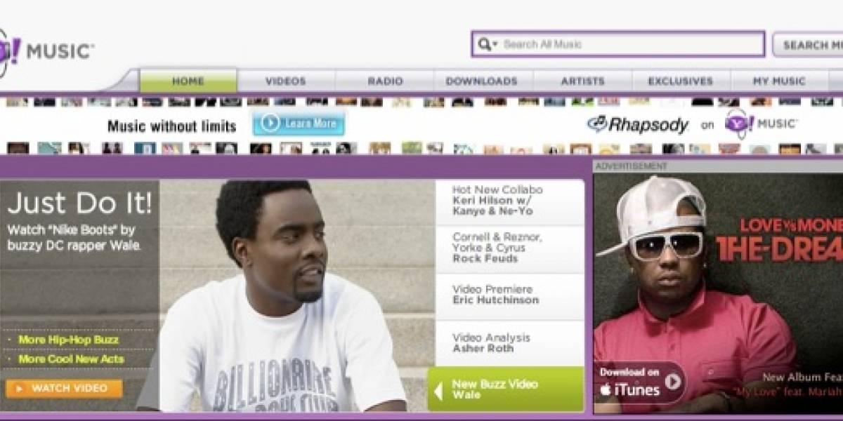 Yahoo! Music se relanza y ofrece música de otros proveedores