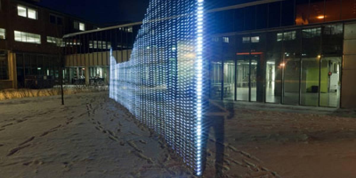 Noruegos visualizan y pintan con luz la red Wi-Fi