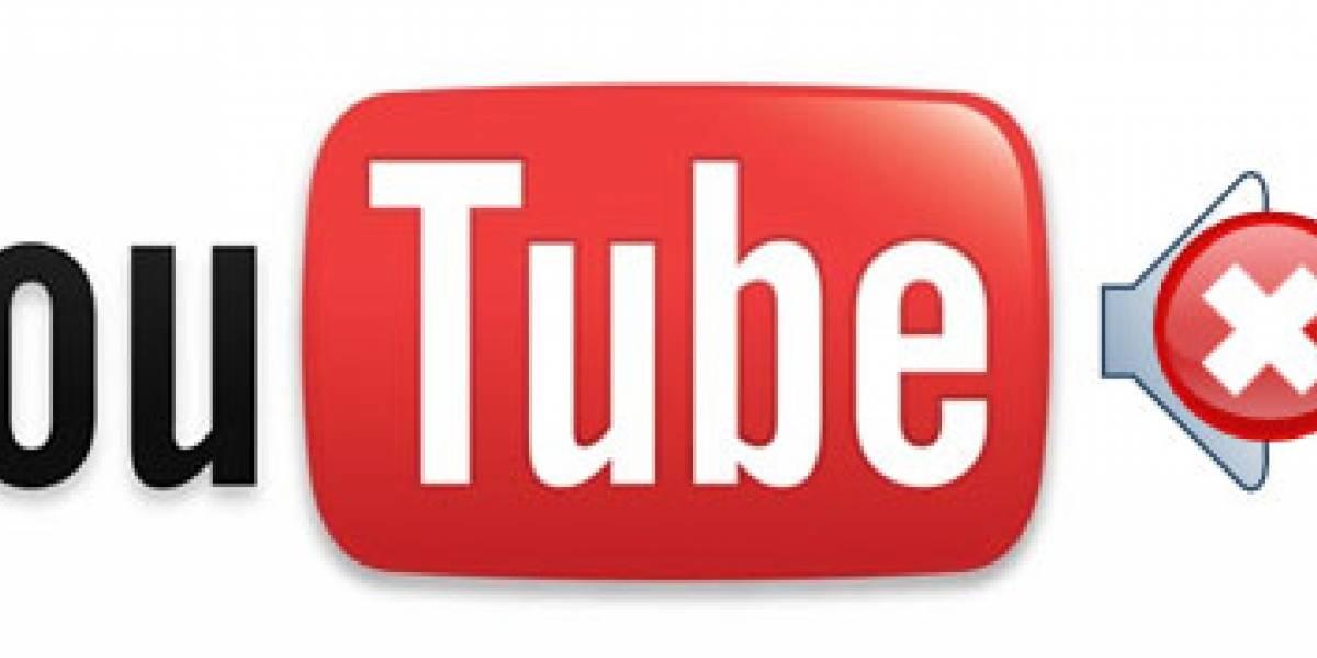 YouTube comienza a silenciar videos que usan música no autorizada