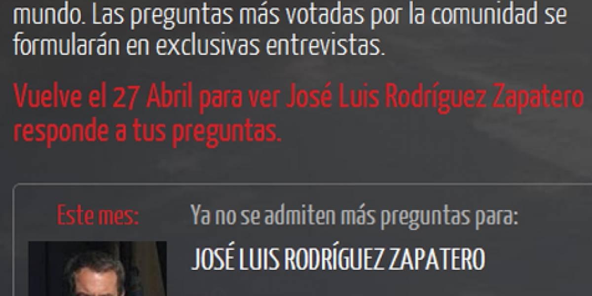 España: Hoy Zapatero contestó las preguntas de los internautas en YouTube