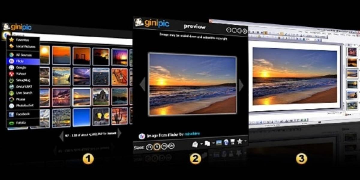 Ginipic: Busca y baja imágenes de internet desde tu escritorio