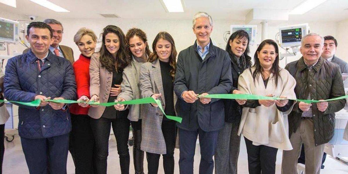Paulina Peña inaugura una sala del hospital Mónica Pretelini