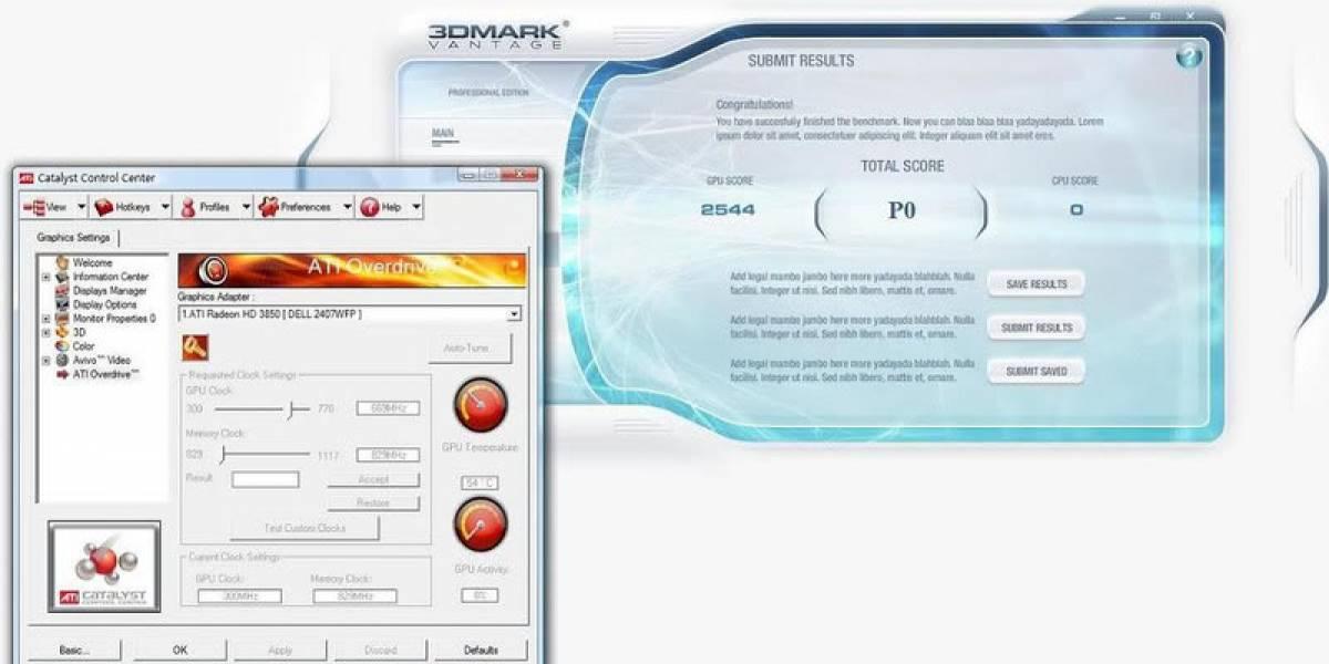 Radeon HD 3850 vs. 3DMark Vantage