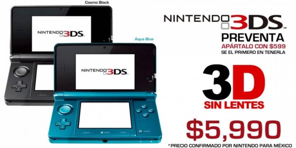 Futurología: Nintendo 3DS costará $5,990 pesos en México
