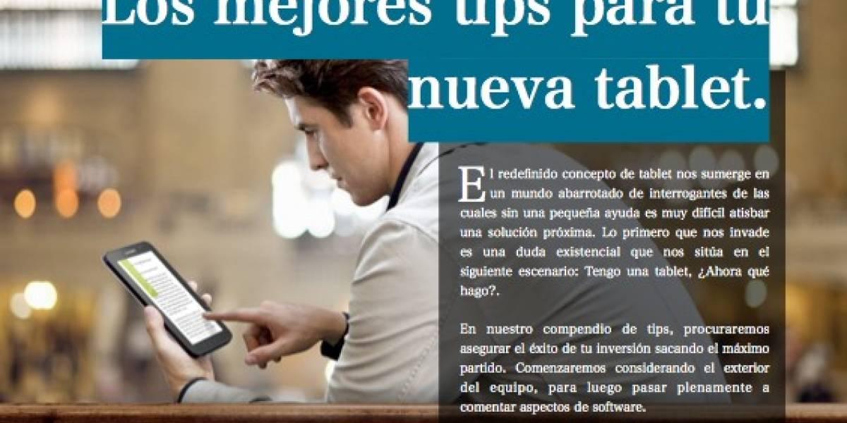 Los mejores tips para tu nueva tablet