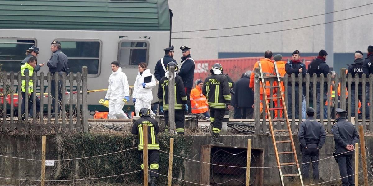 Tres muertos y decenas de heridos por el descarrilamiento de un tren en Italia