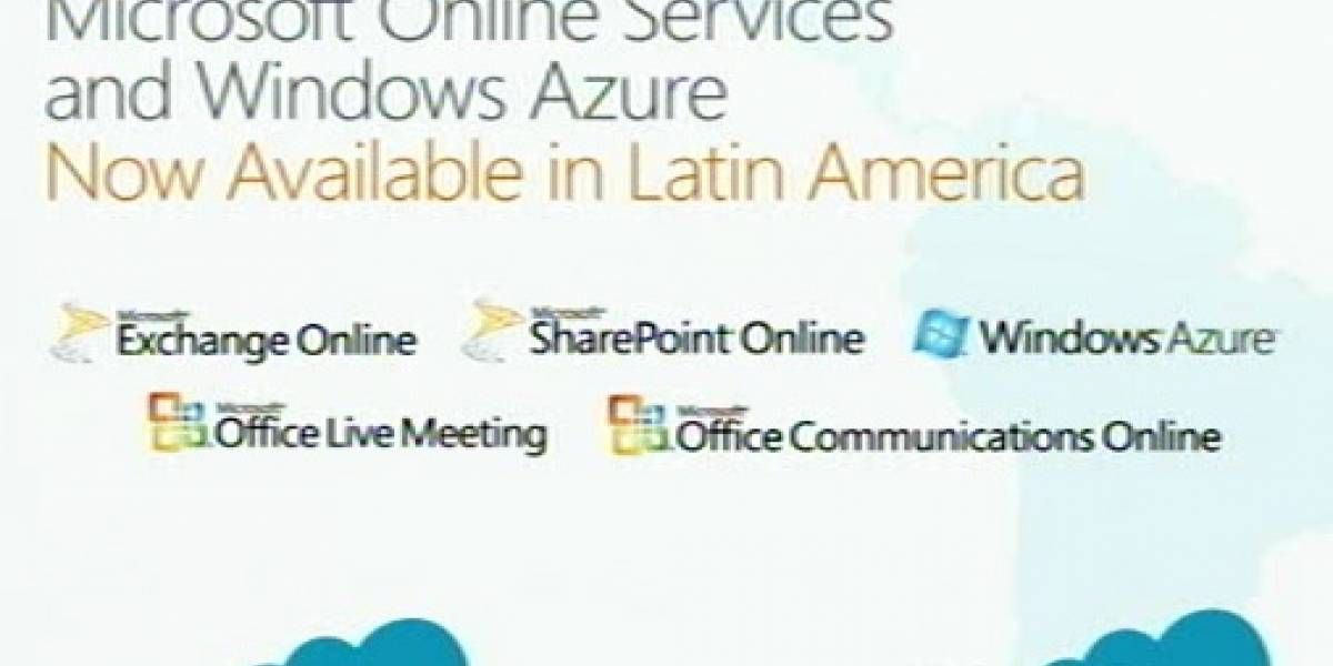 Windows Azure llegará a Latinoamérica