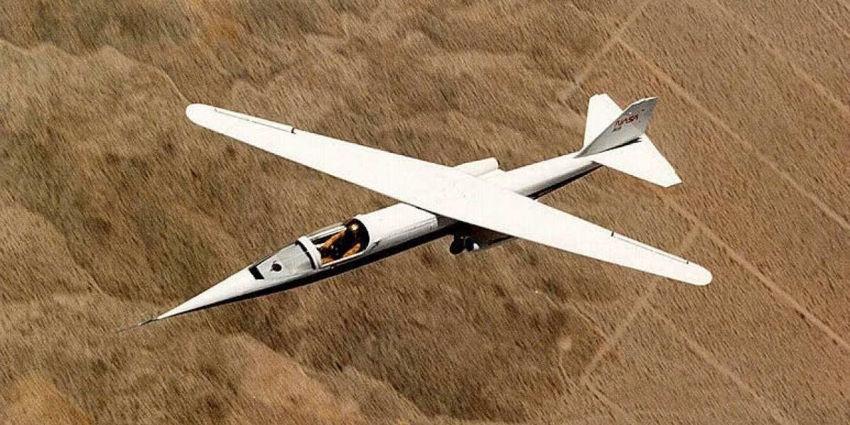 Hay algo bastante raro con este viejo avión de la NASA