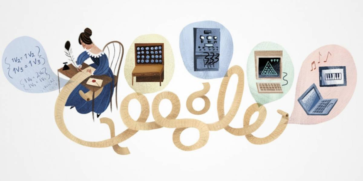 Google recuerda a la primera programadora computacional, Ada Lovelace, con un doodle