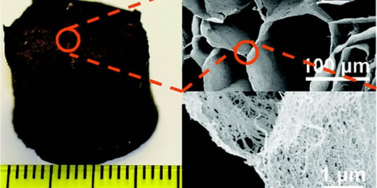 Aerogel de nanotubos de carbono es el nuevo material sólido más liviano del mundo