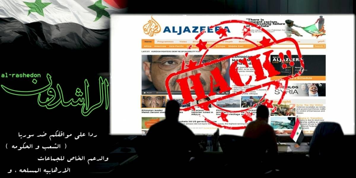 Hackean sitio web de Al Jazeera por cobertura de la situación en Siria