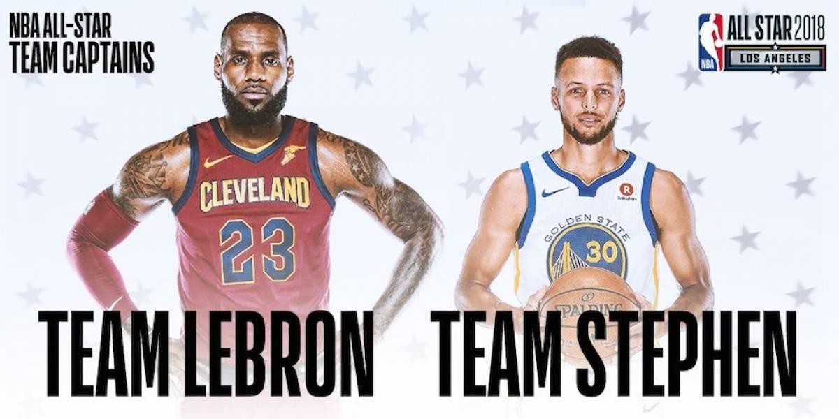 LeBron James y Stephen Curry eligieron a sus jugadores para el Juego de Estrellas