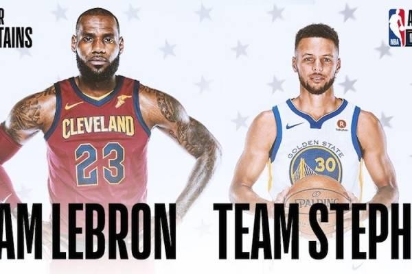 2e59e798da67 LeBron James y Stephen Curry eligieron a sus jugadores para el Juego de  Estrellas