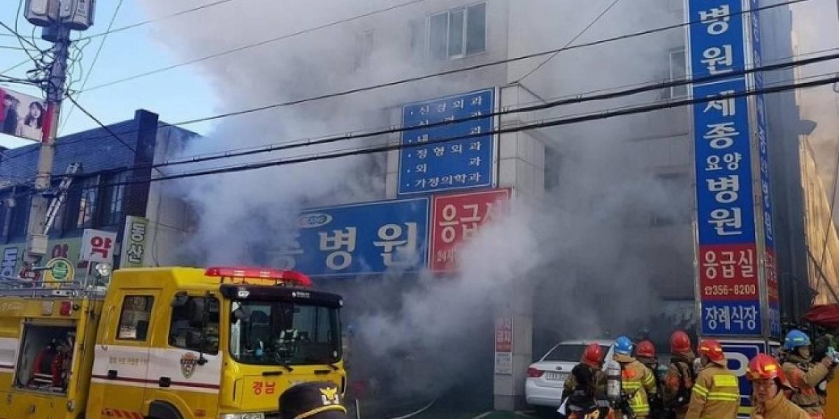 Al menos 31 muertos y 40 heridos deja incendio en hospital de Corea del Sur