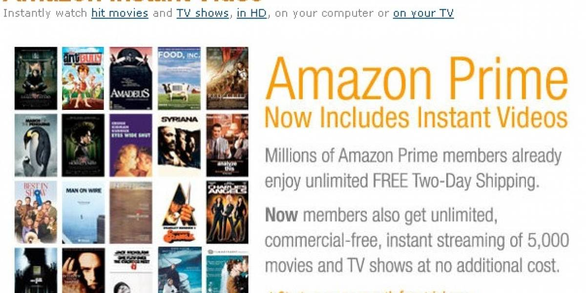 Amazon ya ofrece streaming de video para sus usuarios Prime en Estados Unidos