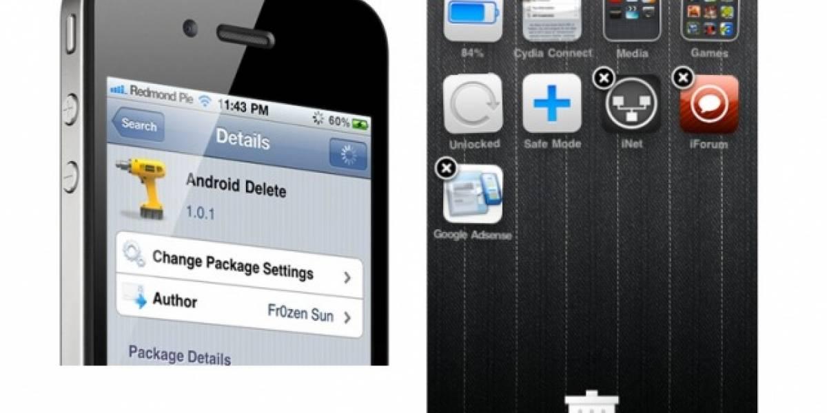 Android Delete para iOS lleva tus aplicaciones a la papelera