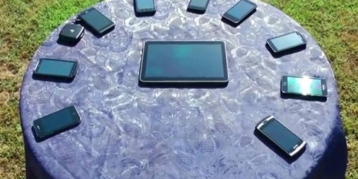 Comparación de pantallas de equipos Android vs iPhone 4