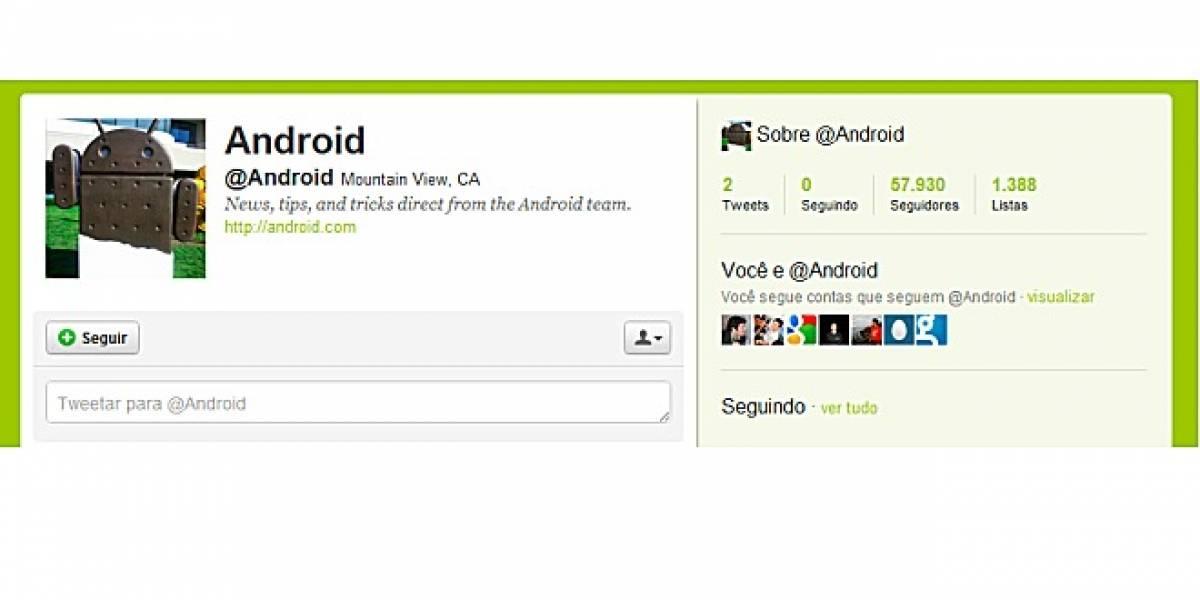 El equipo de Android ya tiene cuenta en Twitter