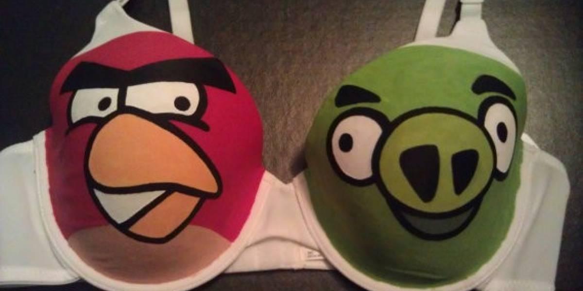Atención, chicos con novia: A la venta sostén de Angry Birds