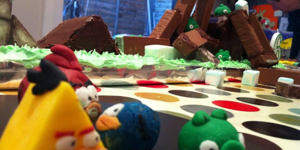 La mejor torta de cumpleaños: Pastel jugable de Angry Birds