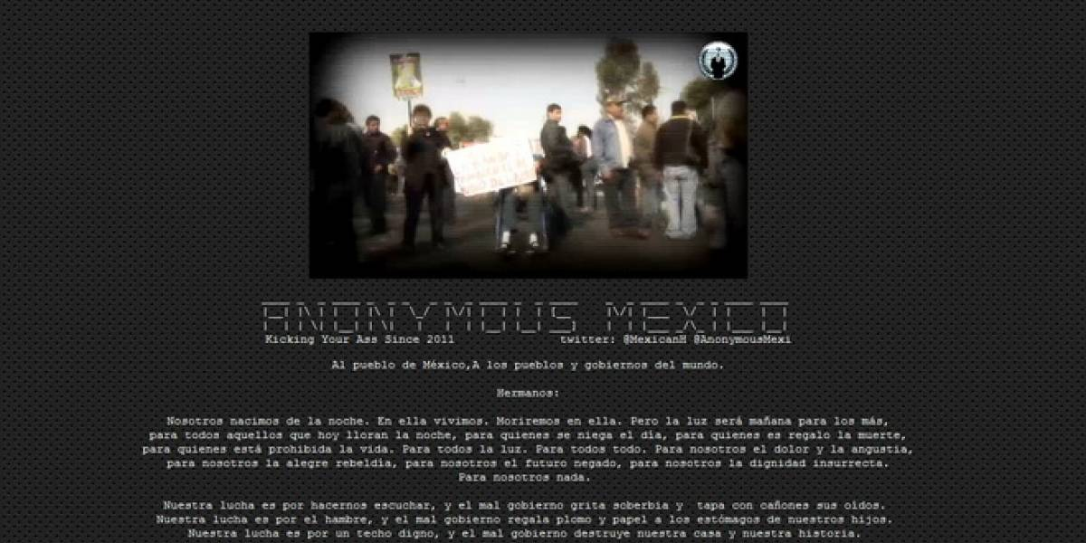 México: Anonymous hackea página de la Secretaría de la Defensa Nacional