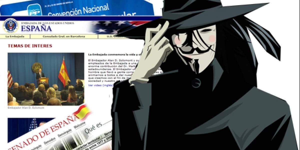 España: Tumban webs del Senado, el PP y la Embajada de EEUU por la Ley Sinde