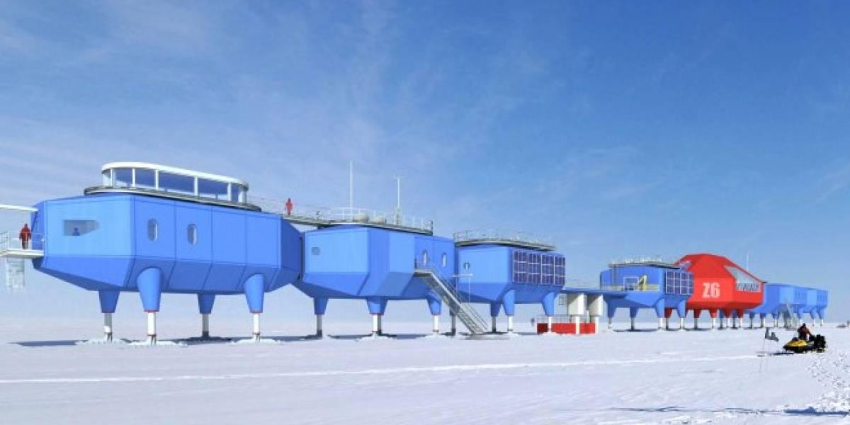 """Estación antártica inglesa """"levanta los pies"""" para no enterrarse en la nieve"""