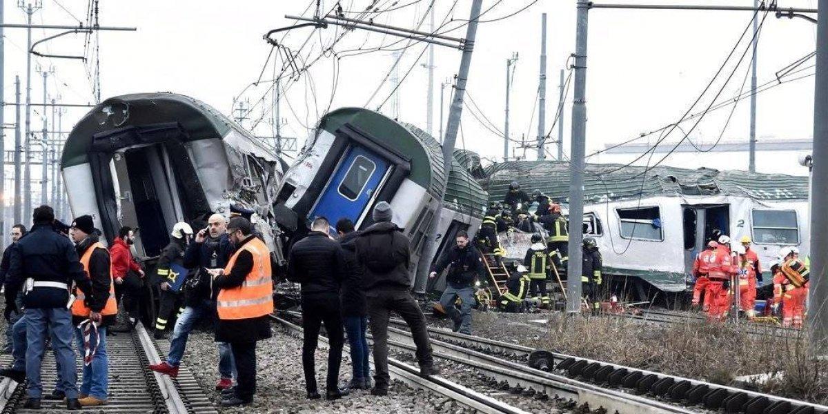 Tren descarrilado en Italia deja al menos tres muertos y decenas de heridos