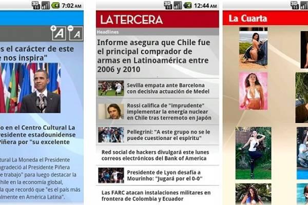 Diario La Tercera, La Cuarta, La Hora y más, directamente en tu Android