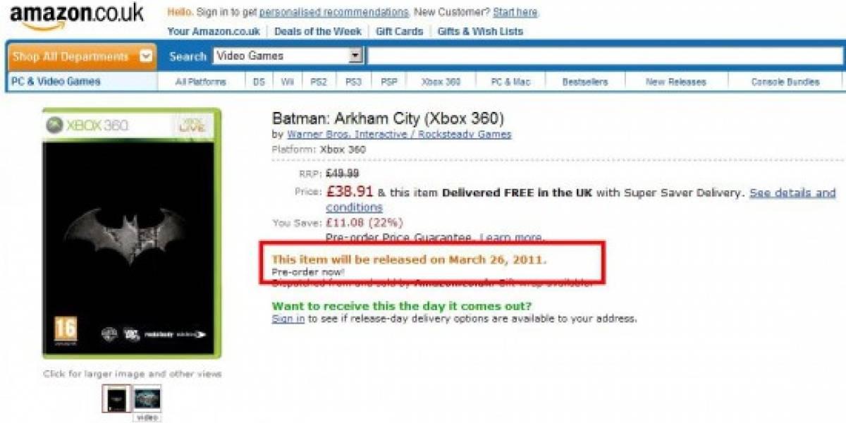 Futurología: Arkham City sale en marzo del 2011