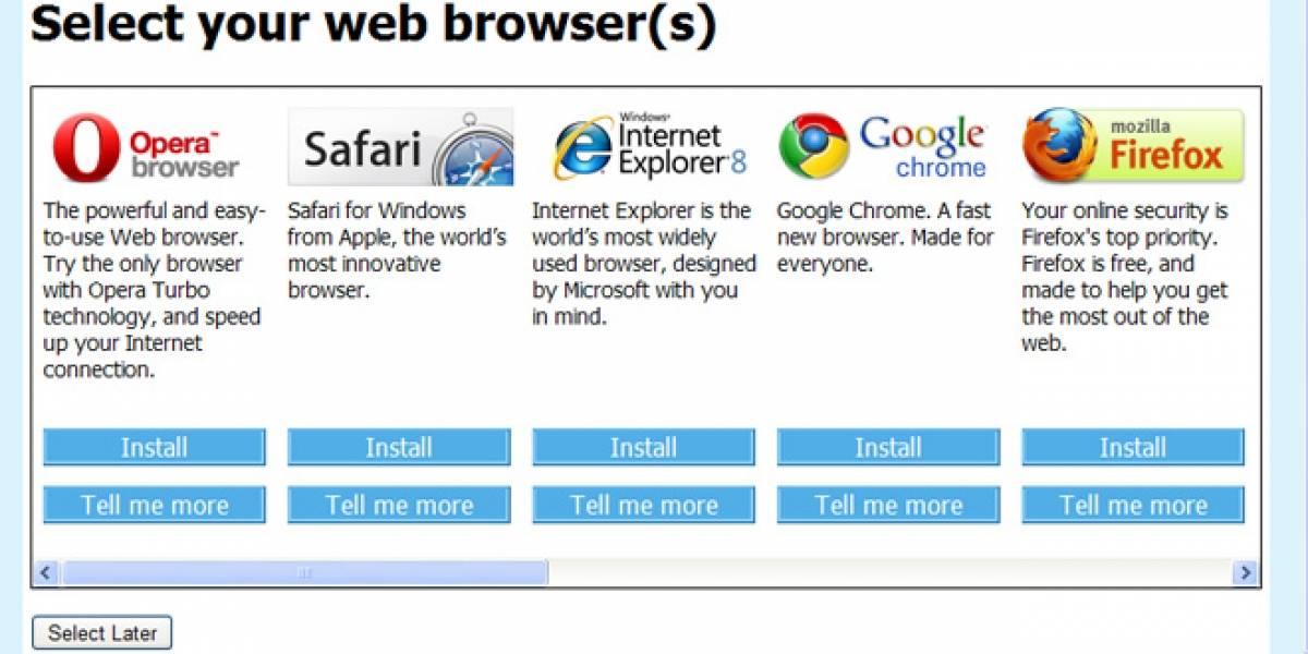 Europa acusa a Microsoft por incumplir la libre elección de navegador