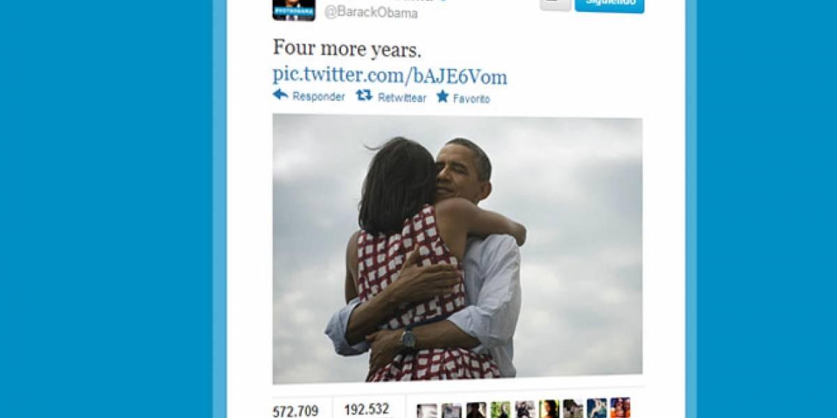 El tuit de Obama proclamando su victoria es ya el más retuiteado de la historia