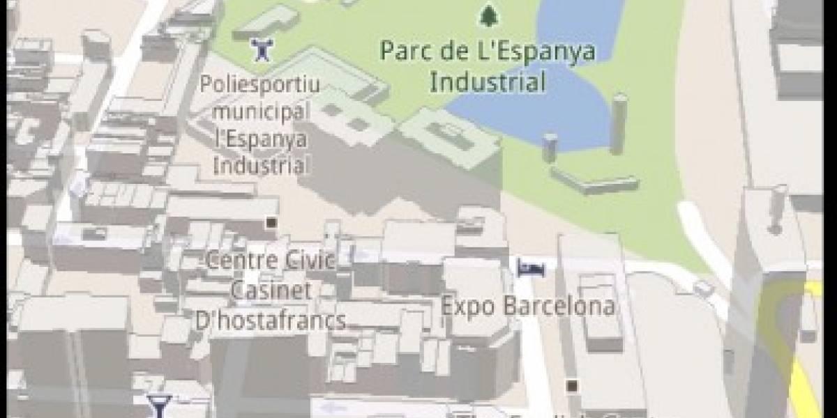 Barcelona es 3D en Google Maps para Android
